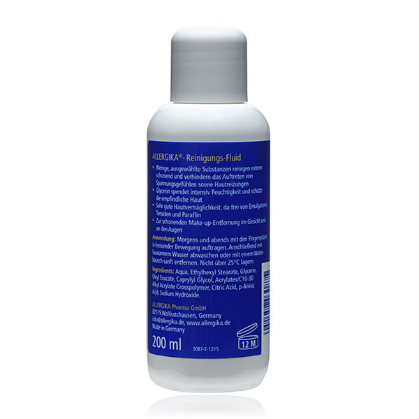"<span style=""color: #003a8c;""><strong>Очищающий флюид для лица</strong> - ALLERGIKA® Cleansing fluid</span>"