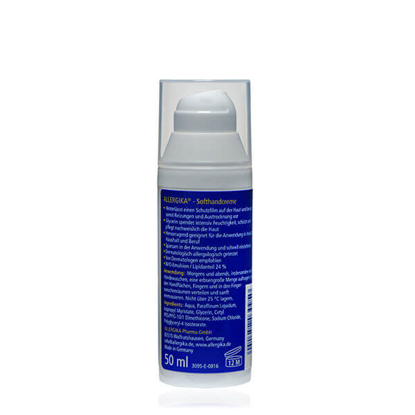 """<span style=""""color: #003a8c;""""><strong>Мягкий крем для рук</strong> - ALLERGIKA® Soft hand Cream</span>"""