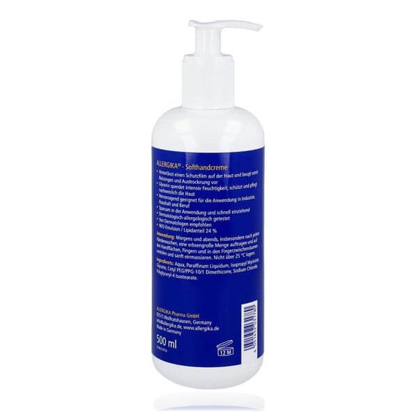 """<span style=""""color: #003a8c;""""><strong>Мягкий крем для рук</strong> - ALLERGIKA® Soft hand Cream</span> (500 мл)"""